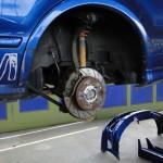 hinten links neue Radnarbe und Bremse